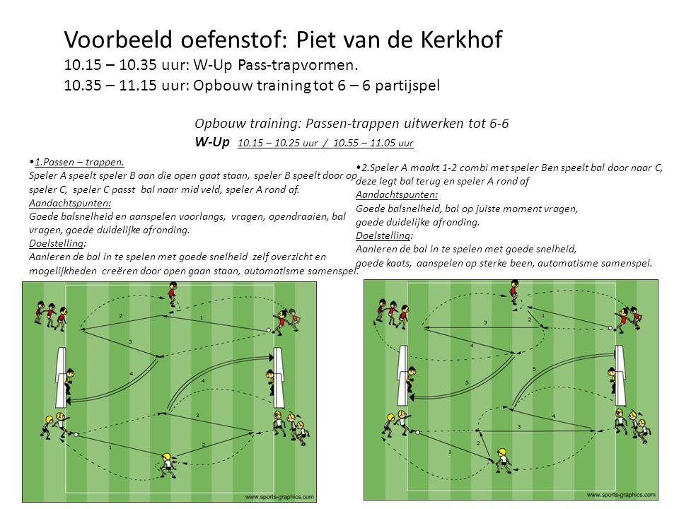 Voorbeeld oefenstof: Piet van de Kerkhof