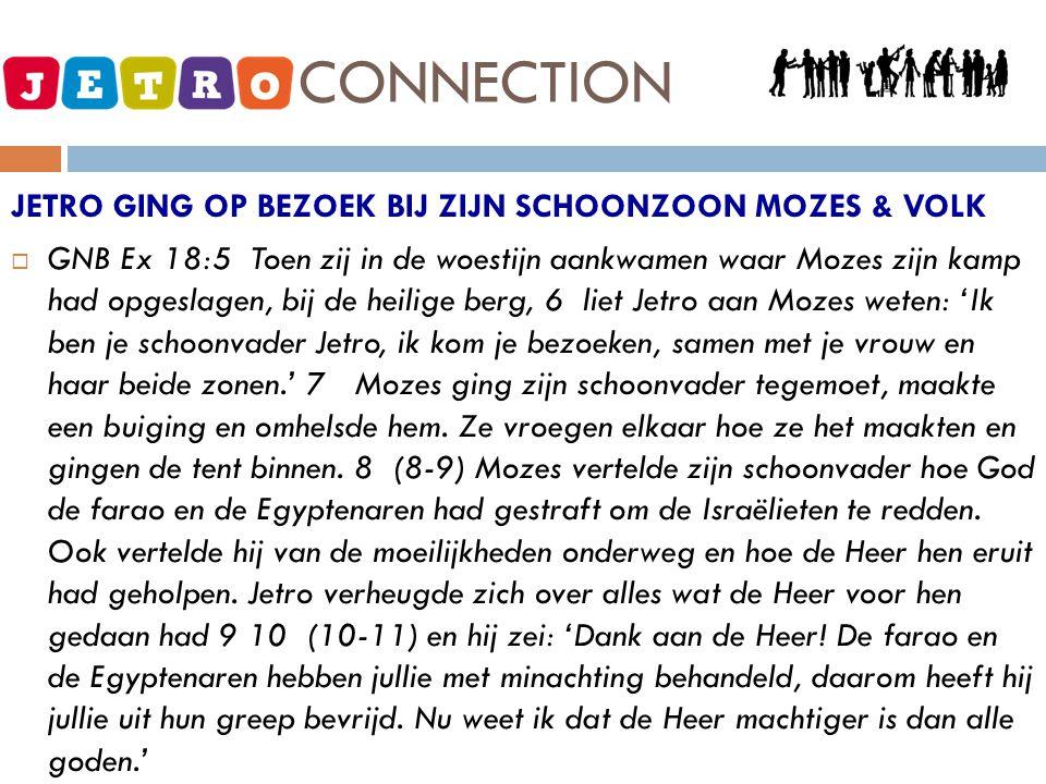 JETRO - CONNECTION JETRO GING OP BEZOEK BIJ ZIJN SCHOONZOON MOZES & VOLK.