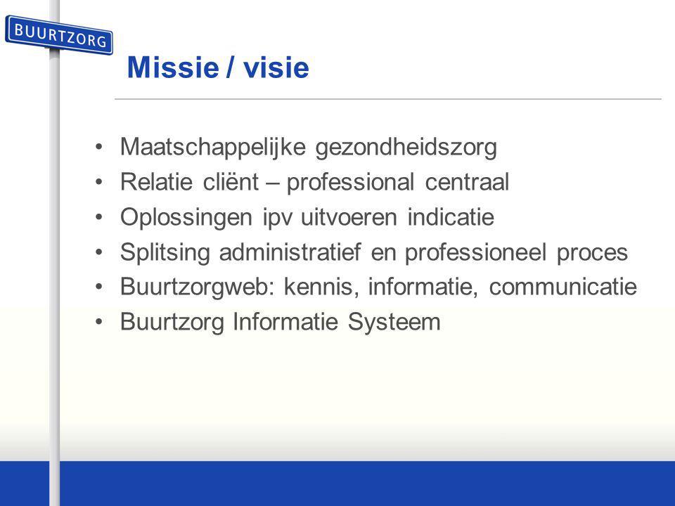 Missie / visie Maatschappelijke gezondheidszorg