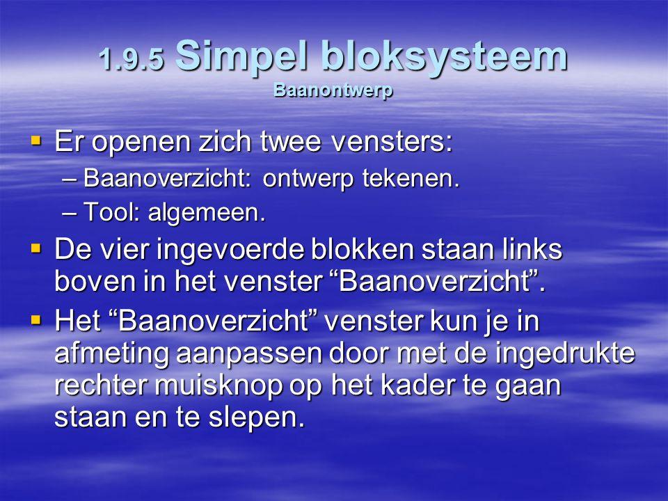 1.9.5 Simpel bloksysteem Baanontwerp