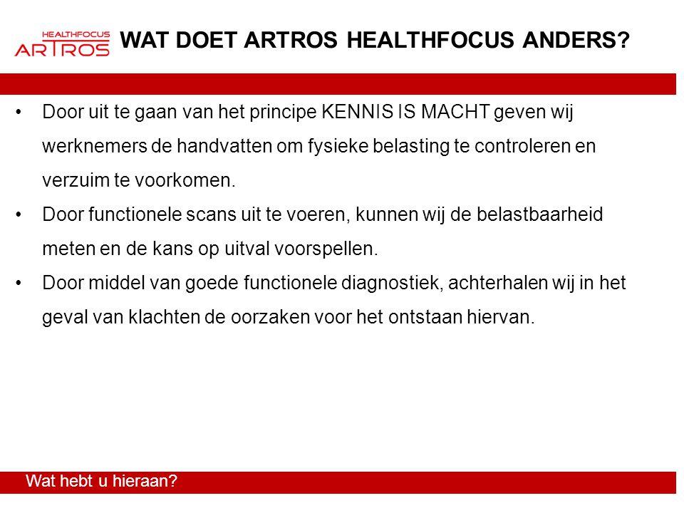WAT DOET ARTROS HEALTHFOCUS ANDERS