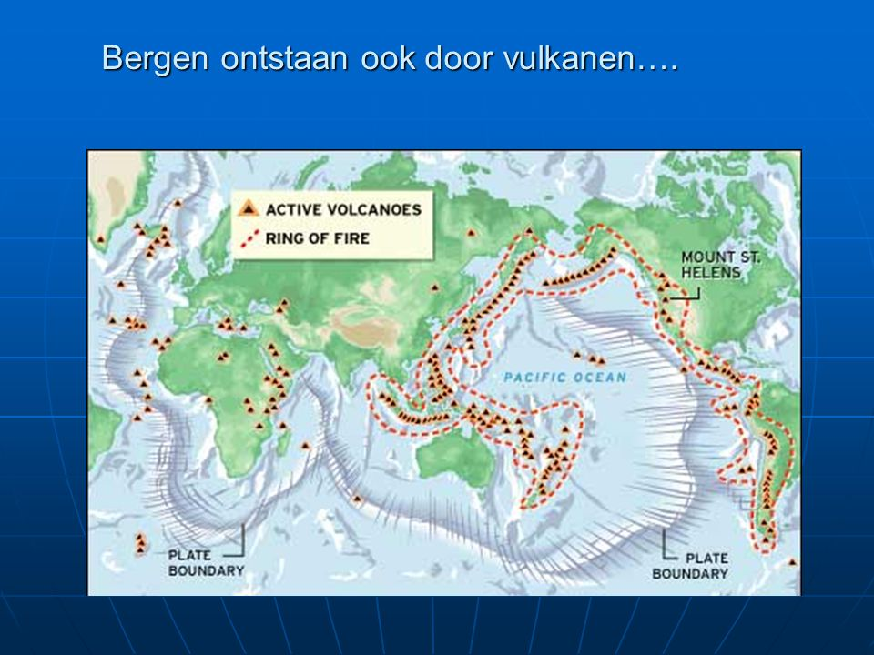 Bergen ontstaan ook door vulkanen….