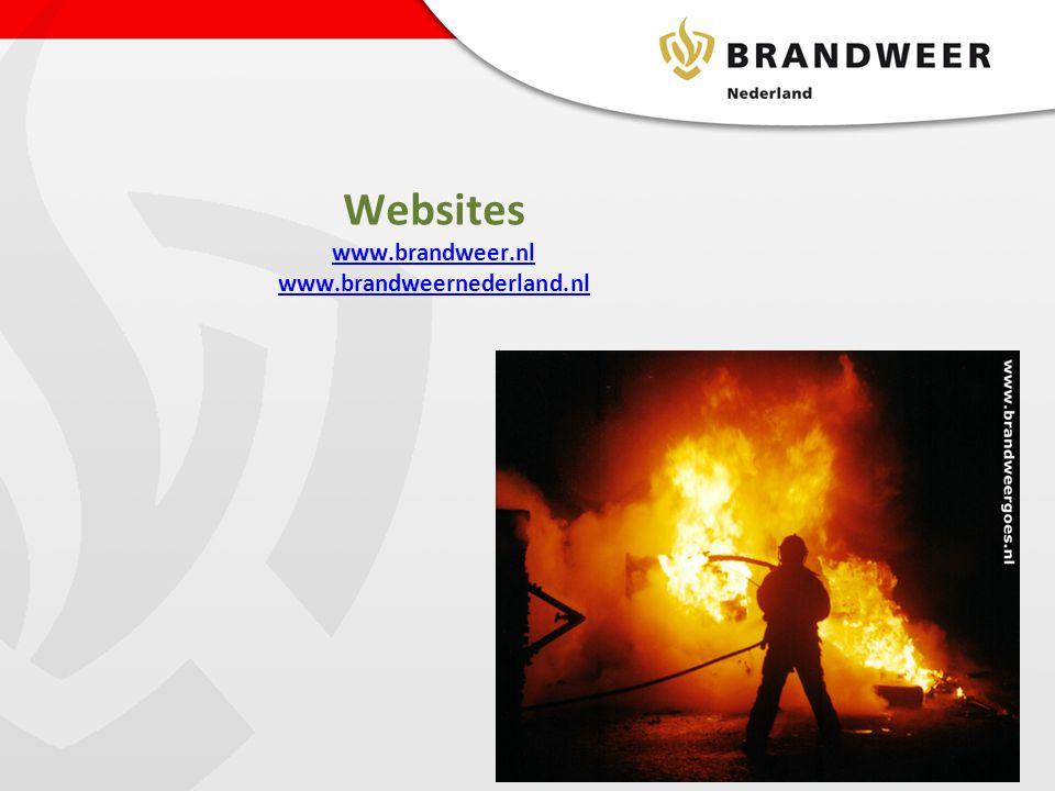 Websites www.brandweer.nl www.brandweernederland.nl
