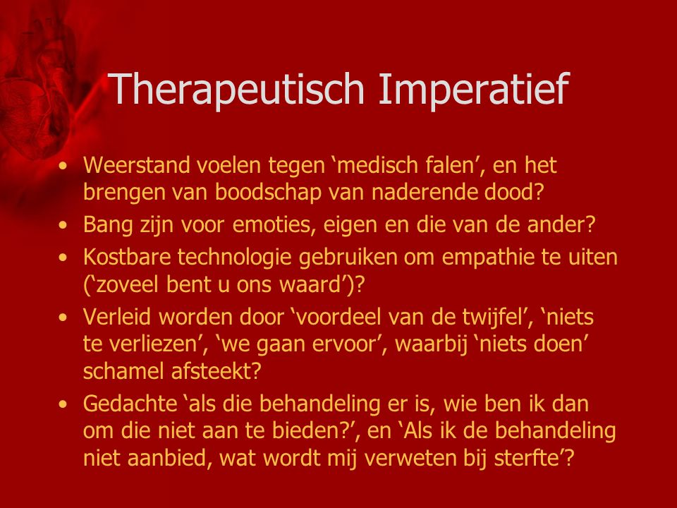 Therapeutisch Imperatief