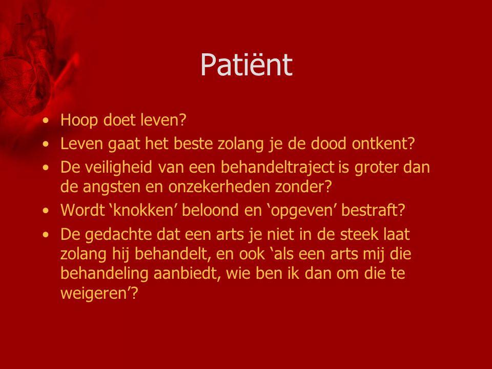 Patiënt Hoop doet leven