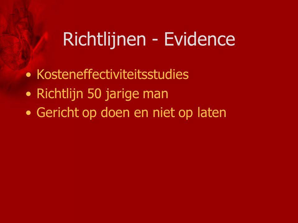 Richtlijnen - Evidence