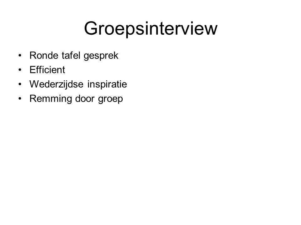Groepsinterview Ronde tafel gesprek Efficient Wederzijdse inspiratie