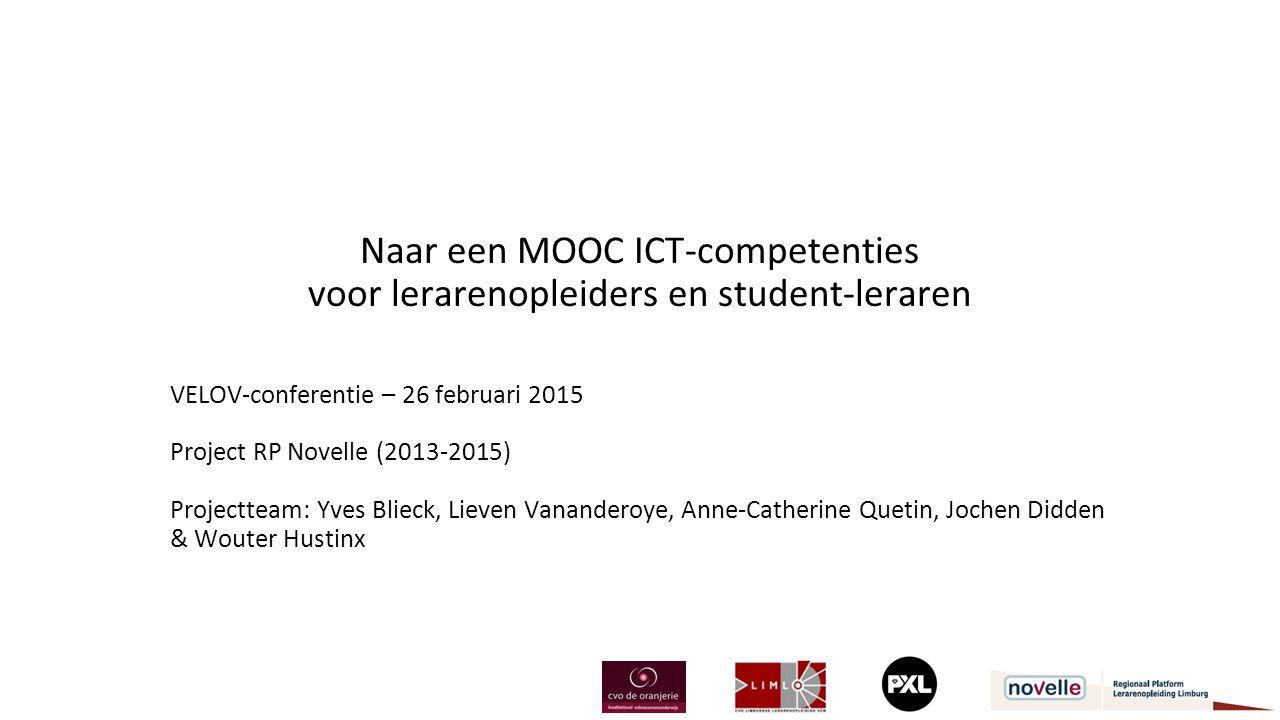 Naar een MOOC ICT-competenties voor lerarenopleiders en student-leraren