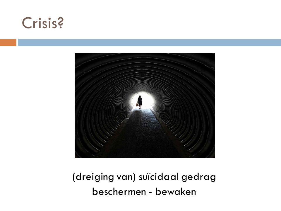 (dreiging van) suïcidaal gedrag