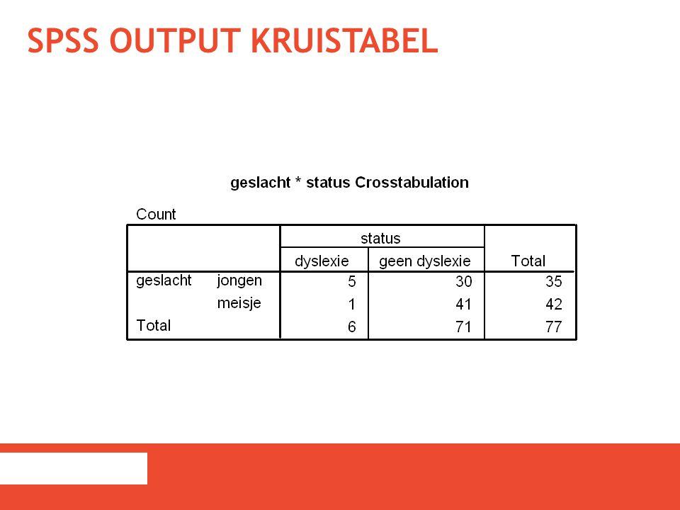 SPSS output kruistabel