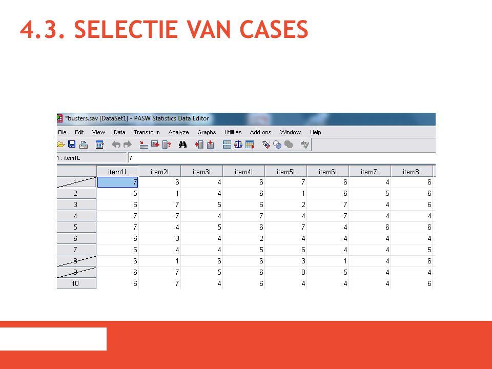 4.3. Selectie van cases