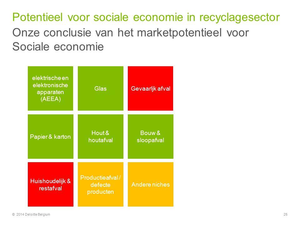 Potentieel voor sociale economie in recyclagesector