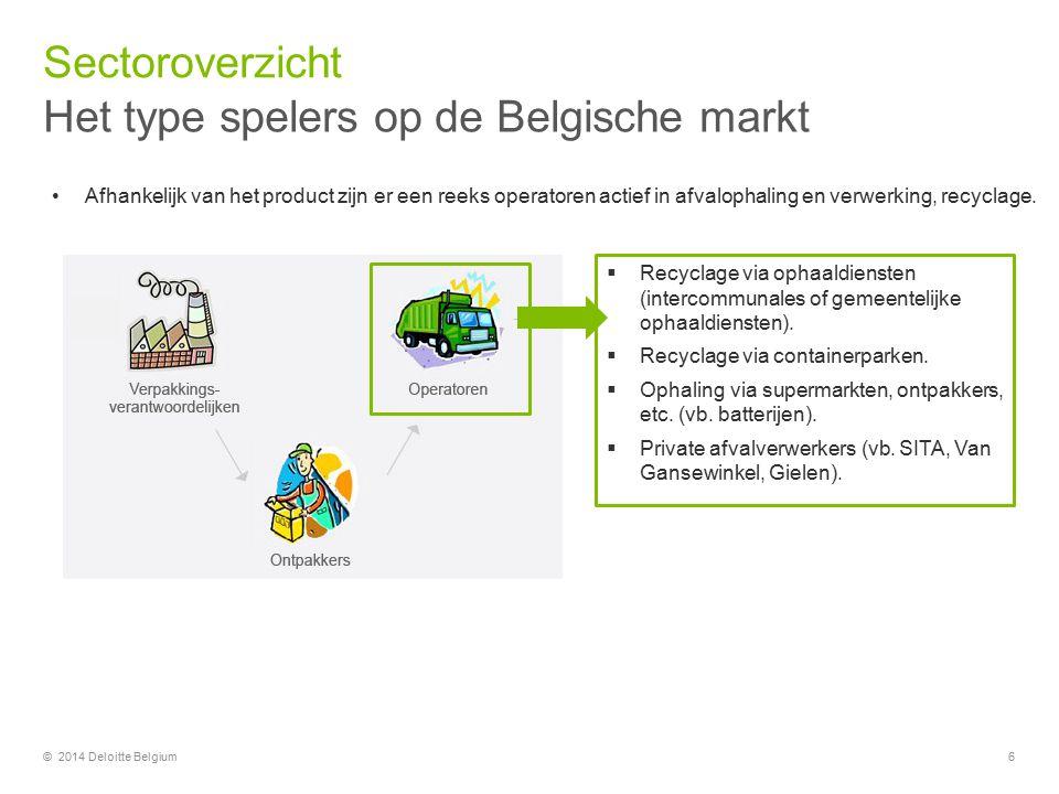 Het type spelers op de Belgische markt