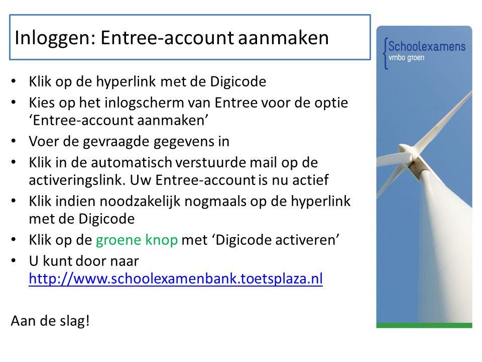 Inloggen: Entree-account aanmaken