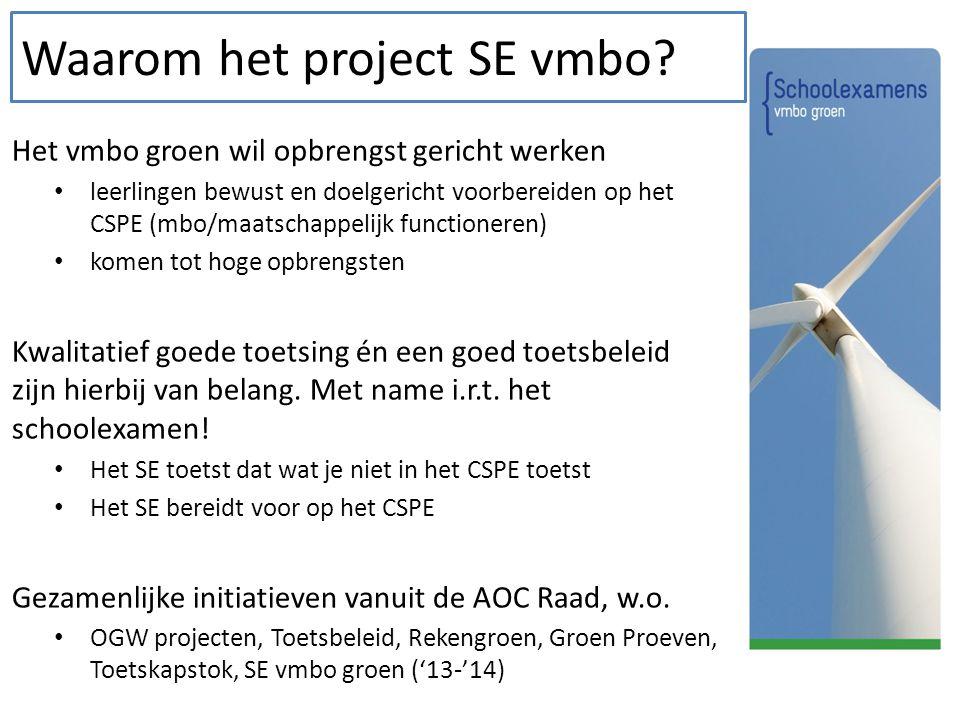 Waarom het project SE vmbo