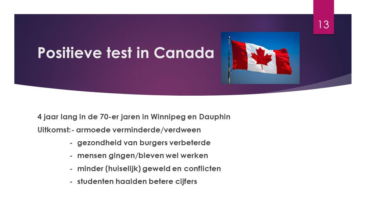Positieve test in Canada