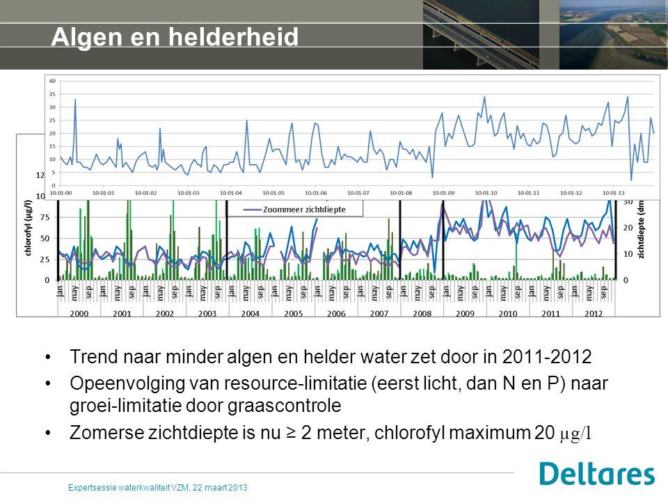 Expertsessie waterkwaliteit VZM, 22 maart 2013