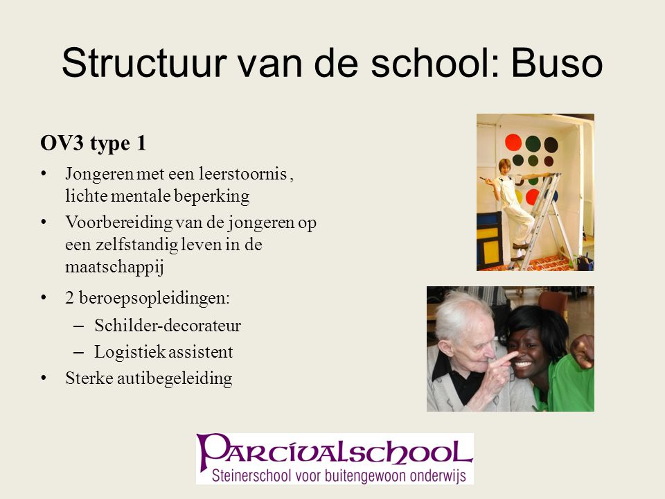 Structuur van de school: Buso