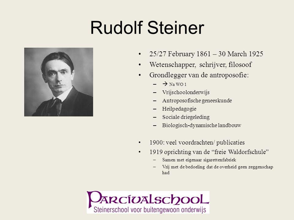Rudolf Steiner 25/27 February 1861 – 30 March 1925