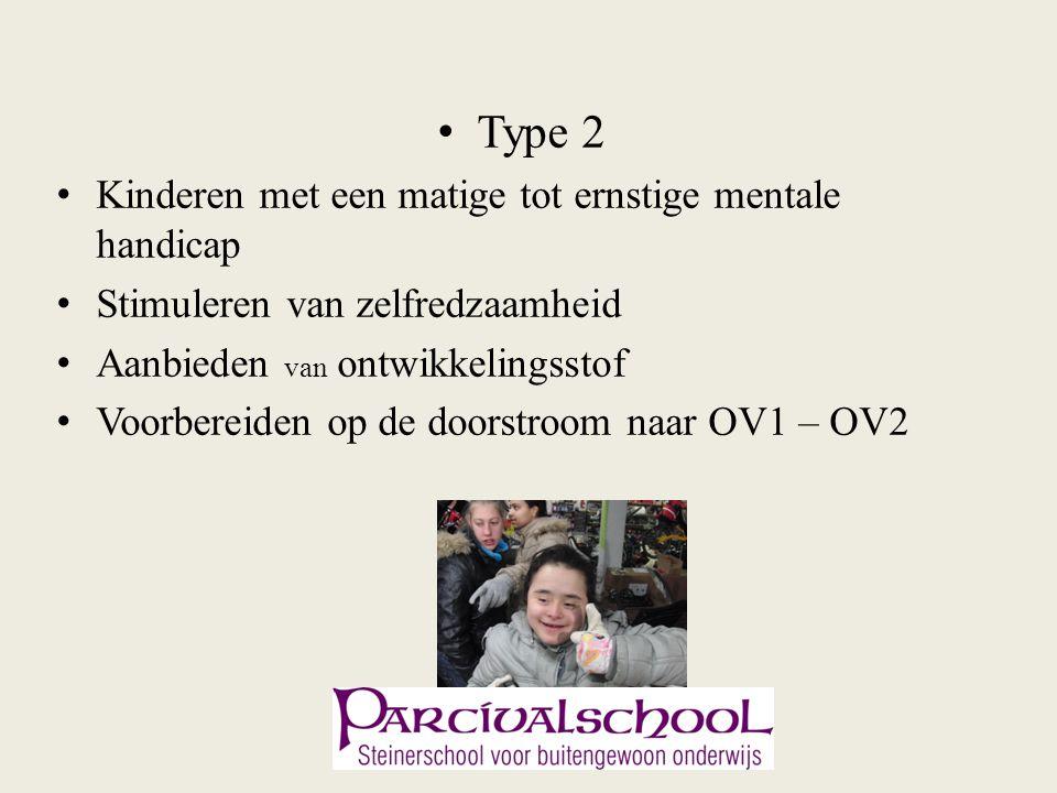 Type 2 Kinderen met een matige tot ernstige mentale handicap