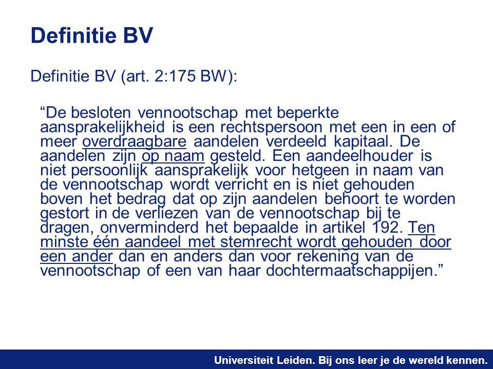 Definitie BV