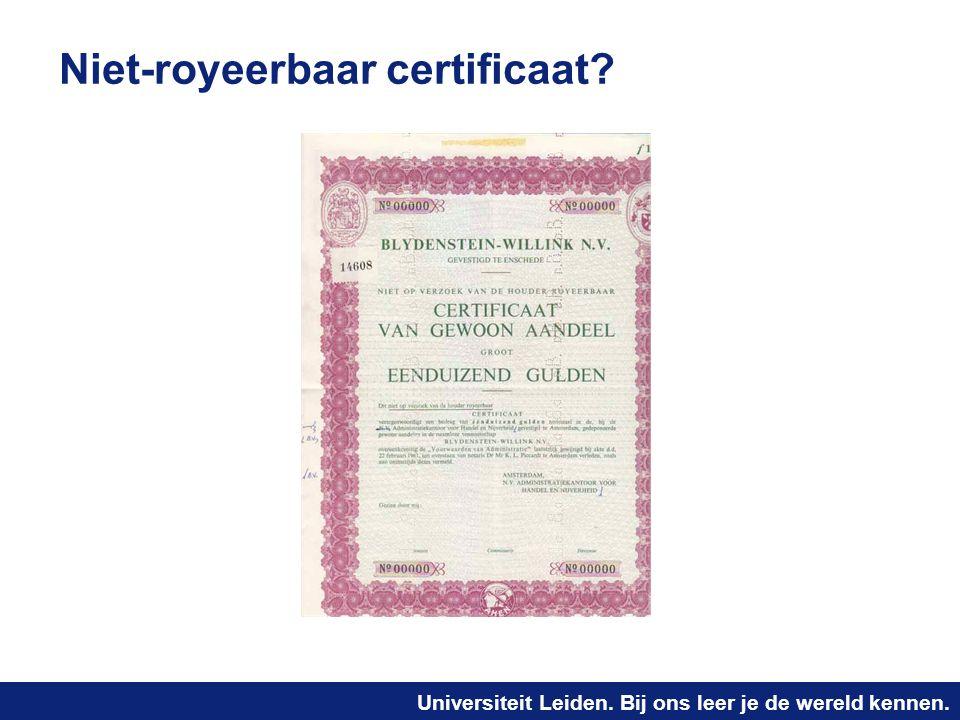 Niet-royeerbaar certificaat