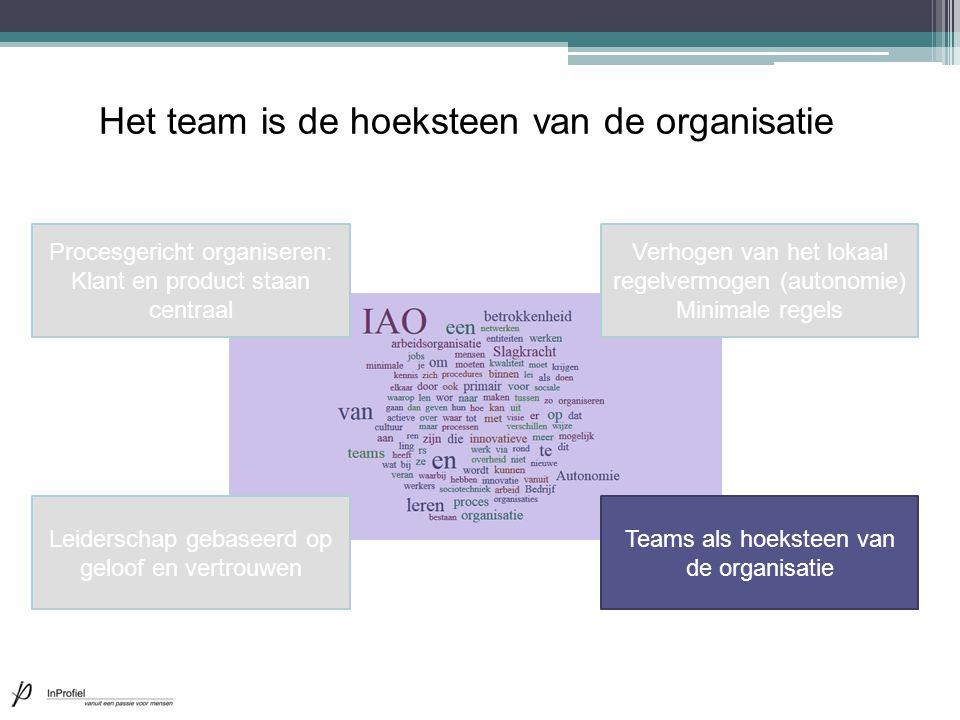 Het team is de hoeksteen van de organisatie