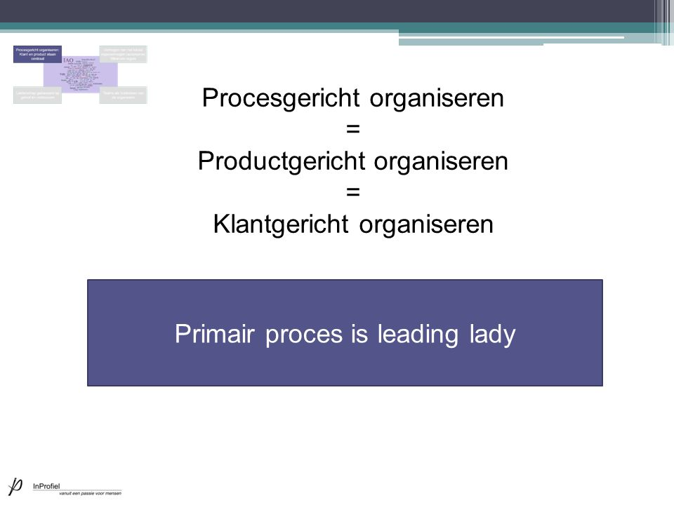 Primair proces is leading lady