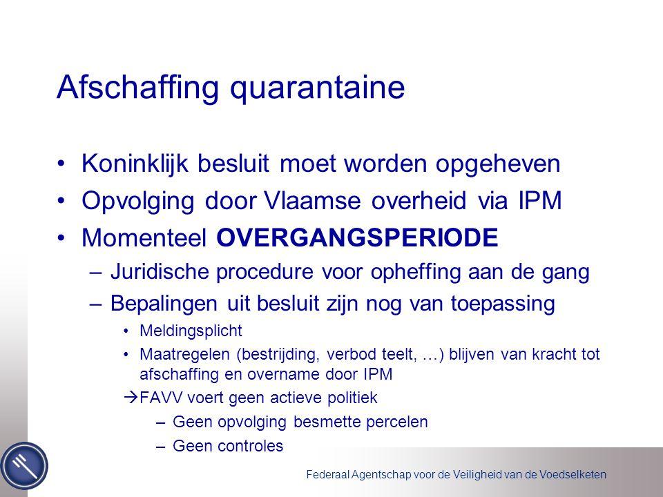 Afschaffing quarantaine