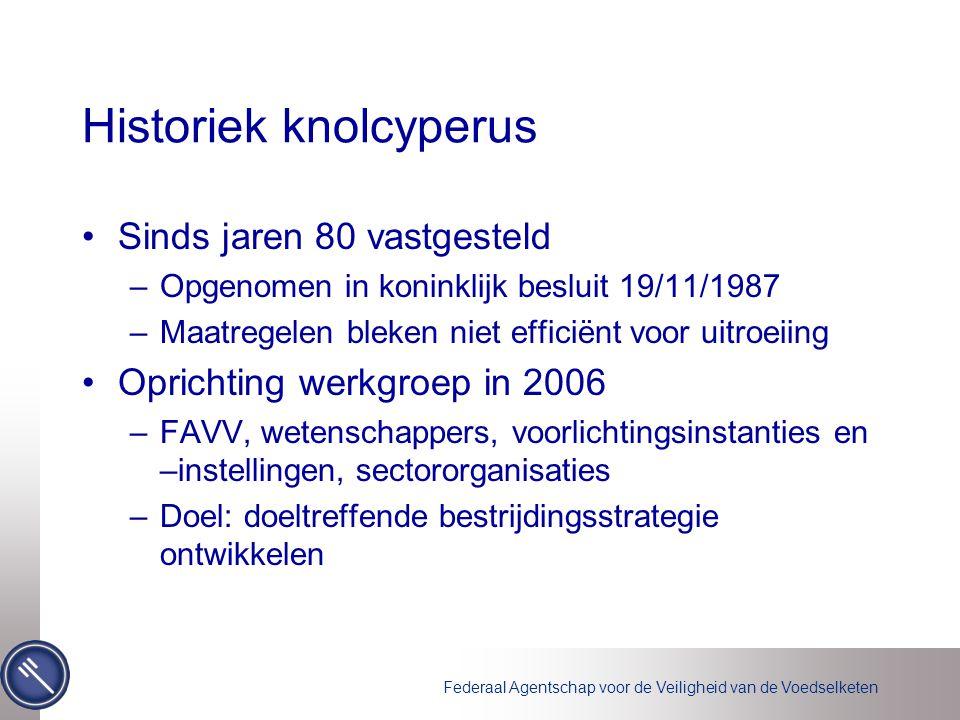 Historiek knolcyperus