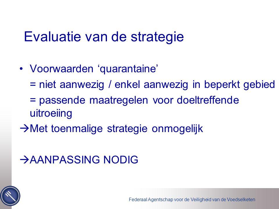 Evaluatie van de strategie