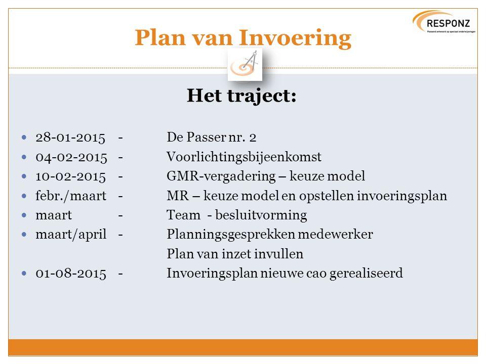 Plan van Invoering Het traject: 28-01-2015 - De Passer nr. 2