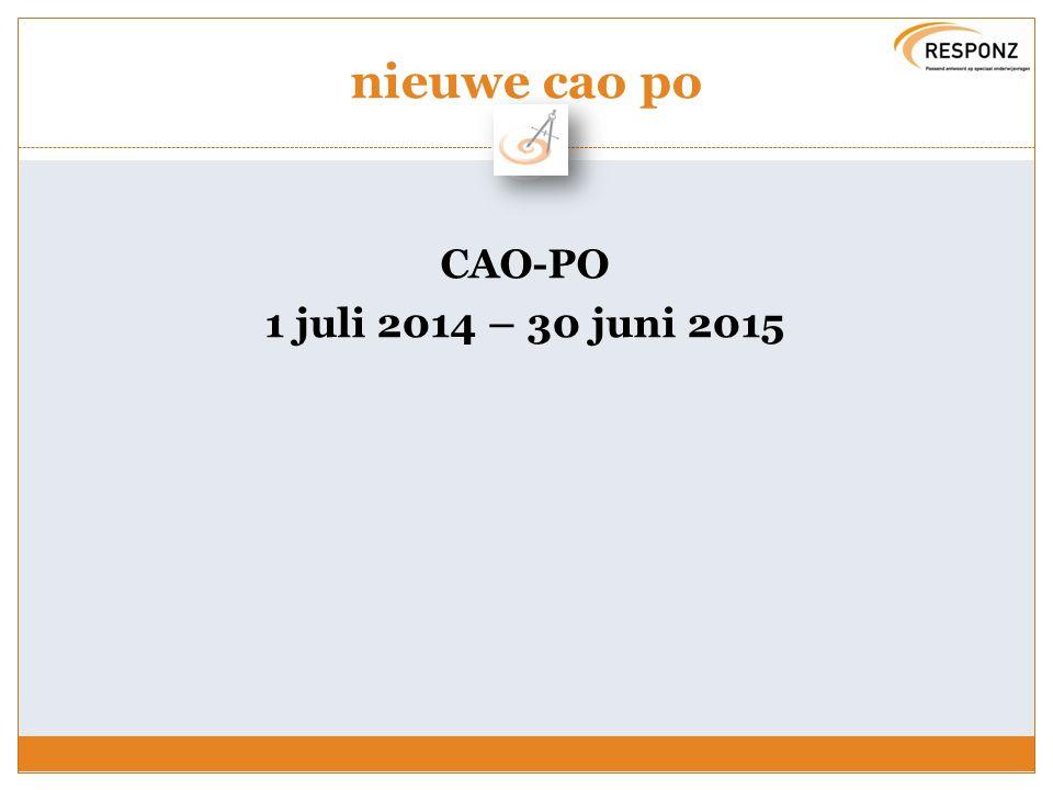 nieuwe cao po CAO-PO 1 juli 2014 – 30 juni 2015