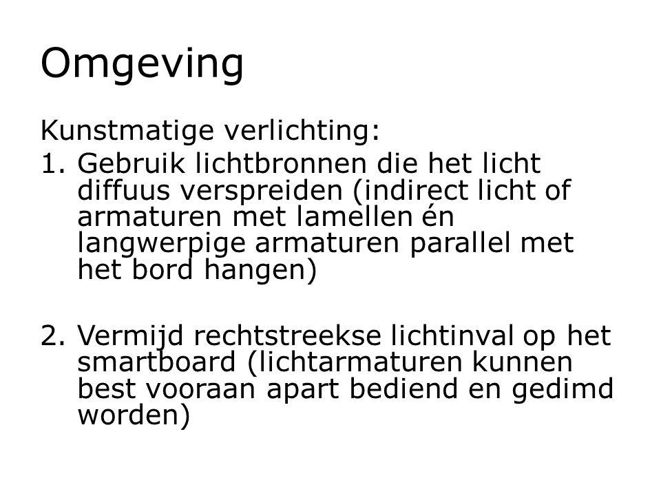 Omgeving Kunstmatige verlichting: