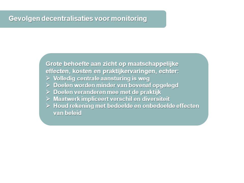 Gevolgen decentralisaties voor monitoring