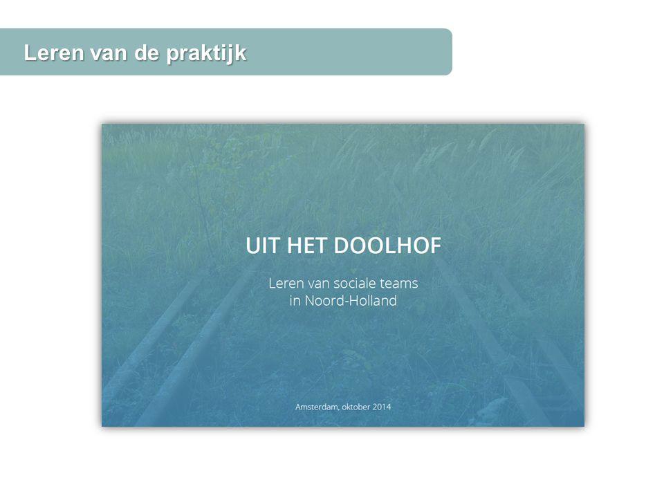 Leren van de praktijk Bron: wmowonen-nh.nl