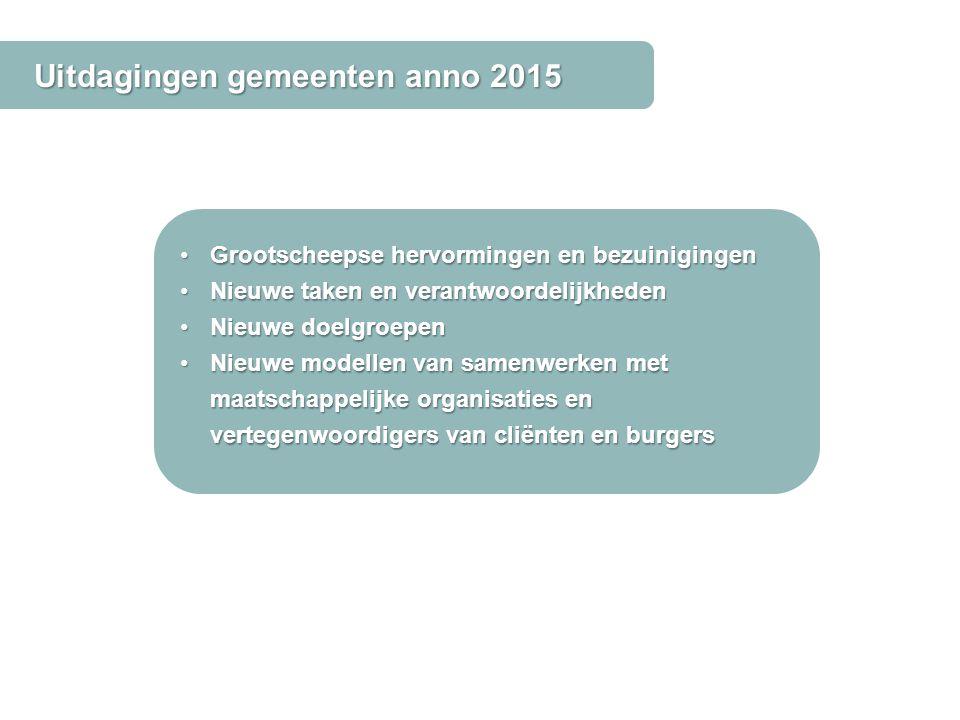 Uitdagingen gemeenten anno 2015