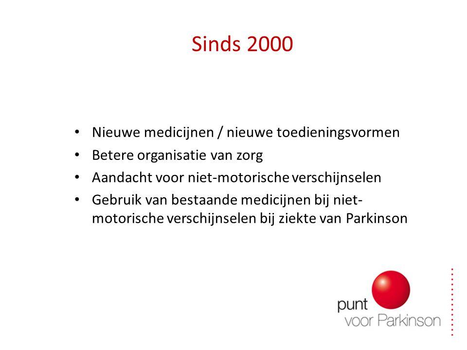 Sinds 2000 Nieuwe medicijnen / nieuwe toedieningsvormen