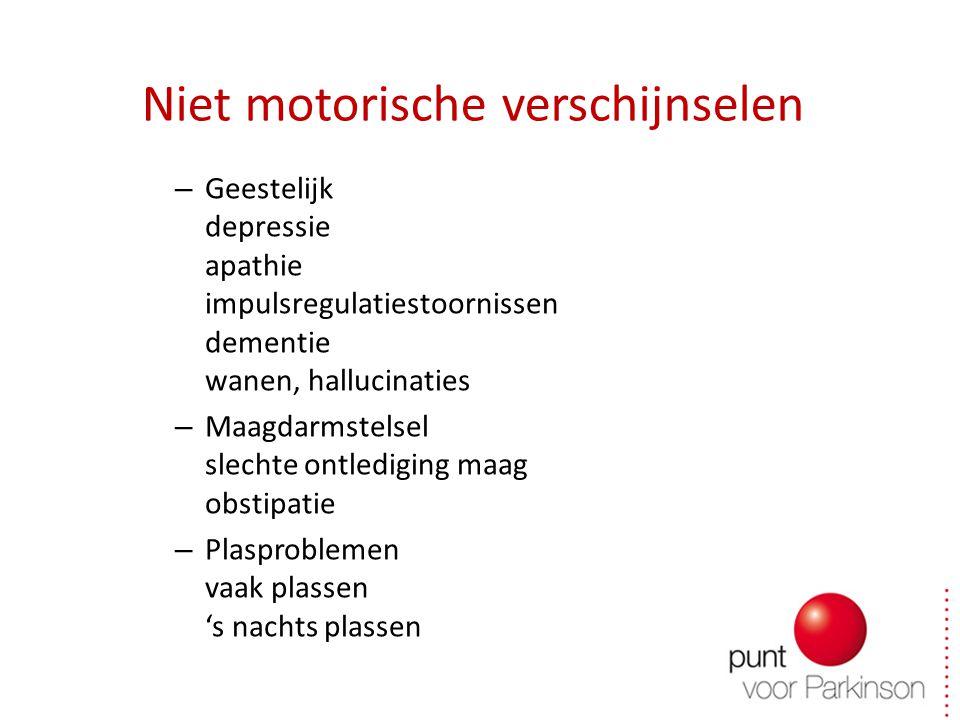Niet motorische verschijnselen