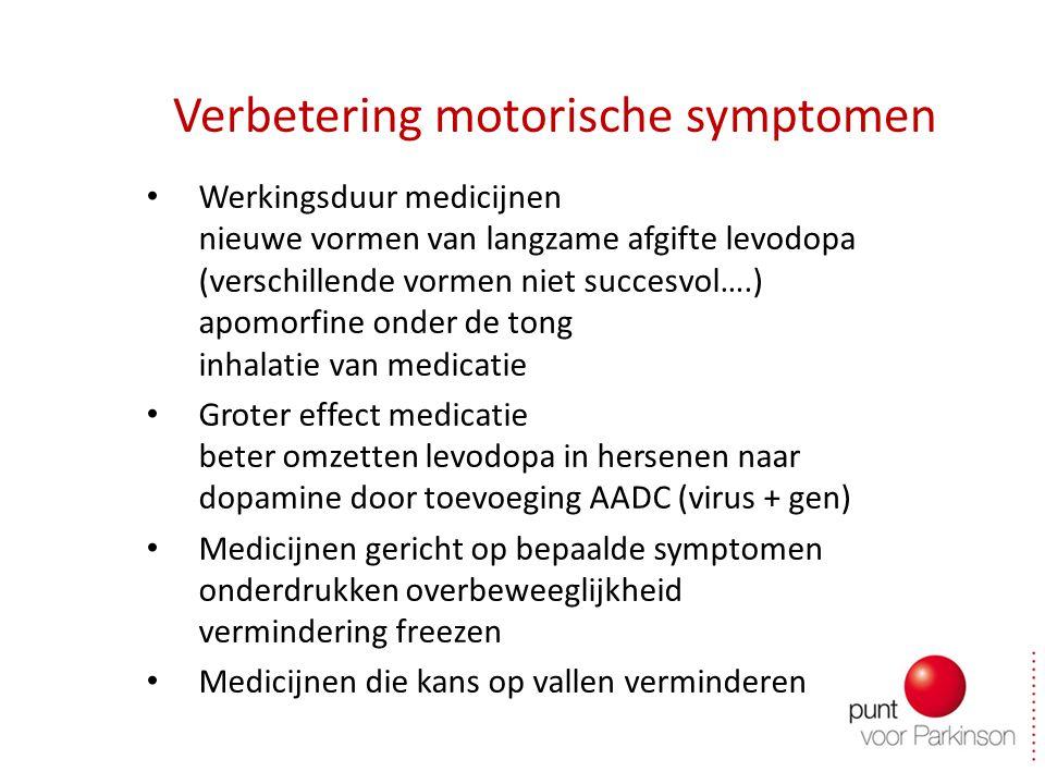 Verbetering motorische symptomen