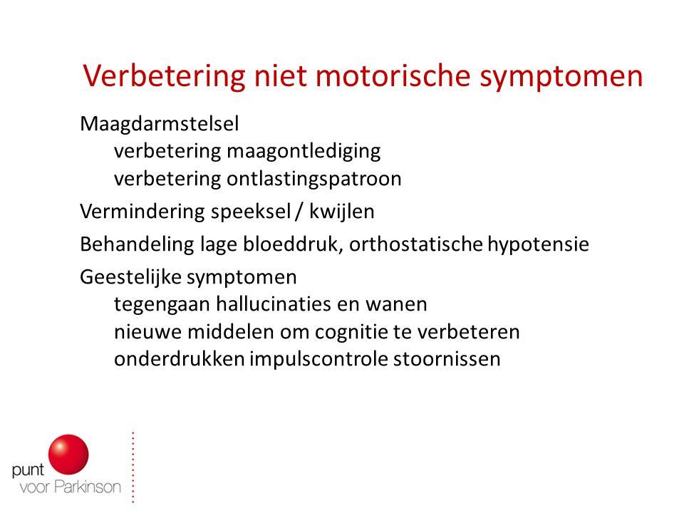 Verbetering niet motorische symptomen