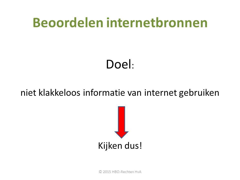 Beoordelen internetbronnen