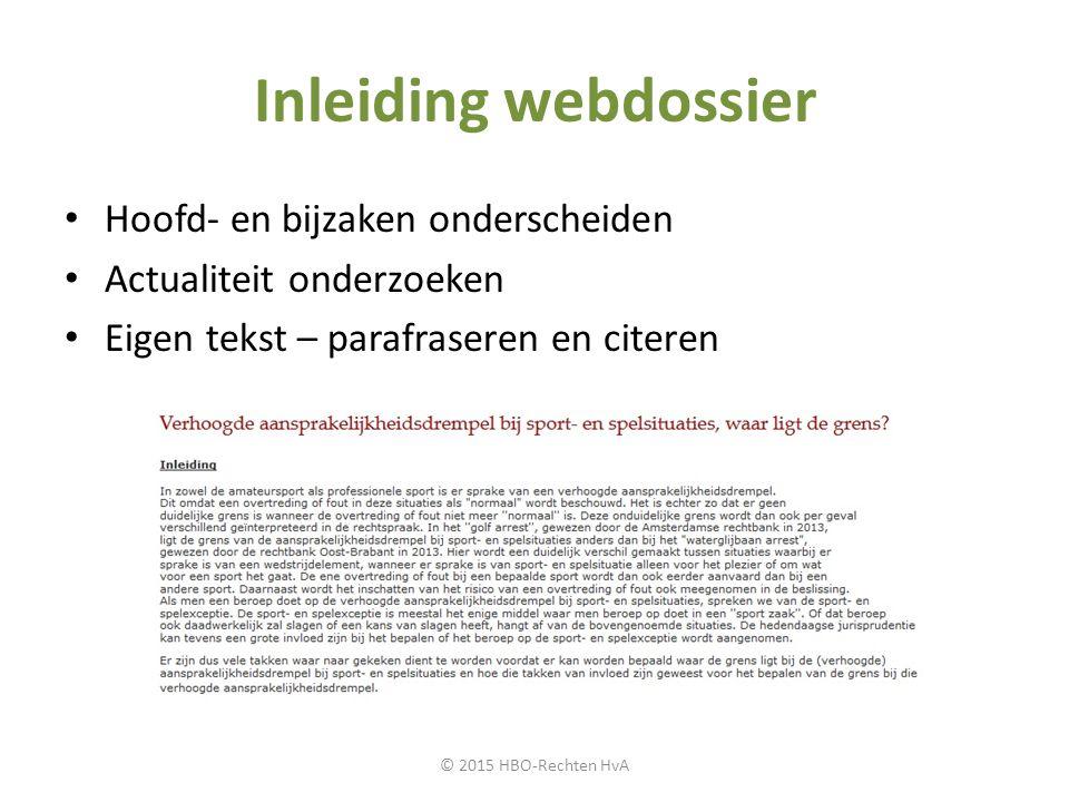 Inleiding webdossier Hoofd- en bijzaken onderscheiden