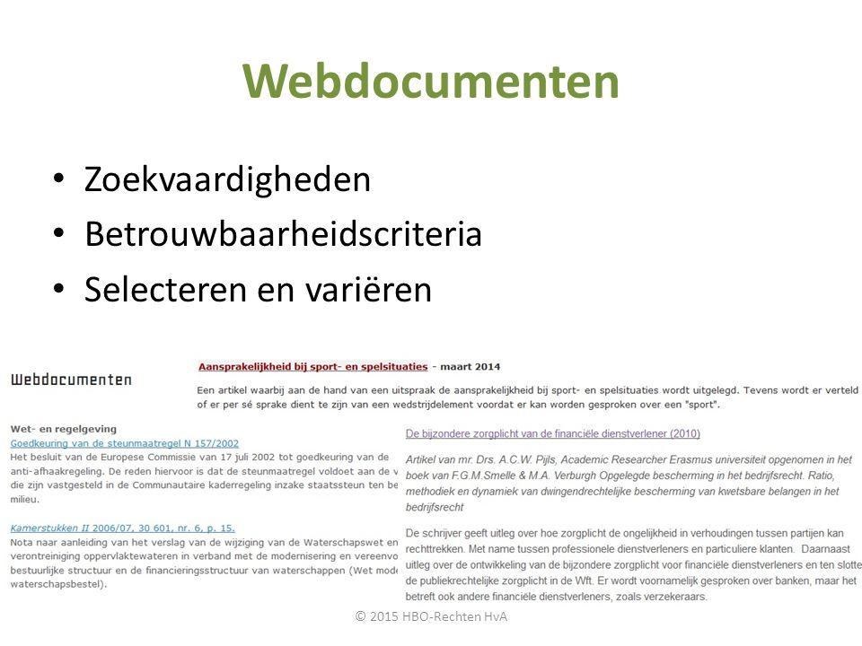 Webdocumenten Zoekvaardigheden Betrouwbaarheidscriteria