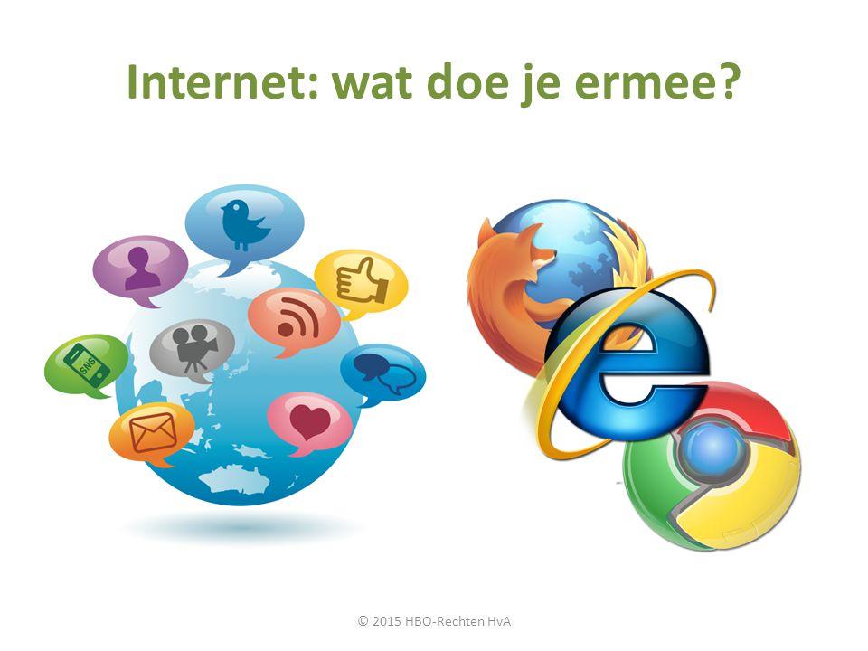 Internet: wat doe je ermee