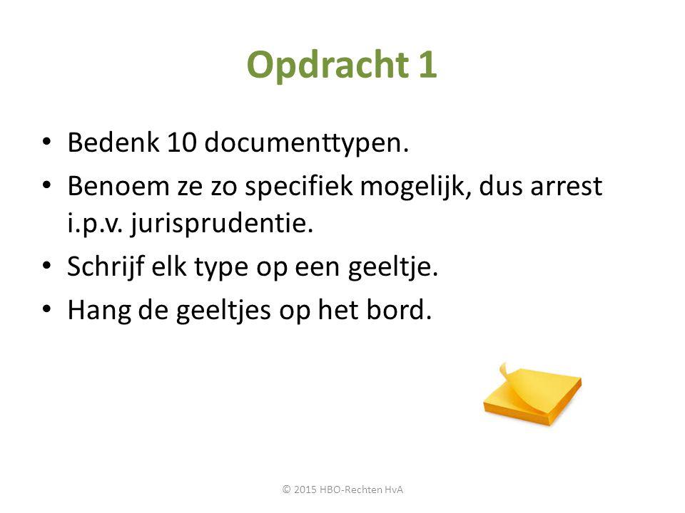 Opdracht 1 Bedenk 10 documenttypen.