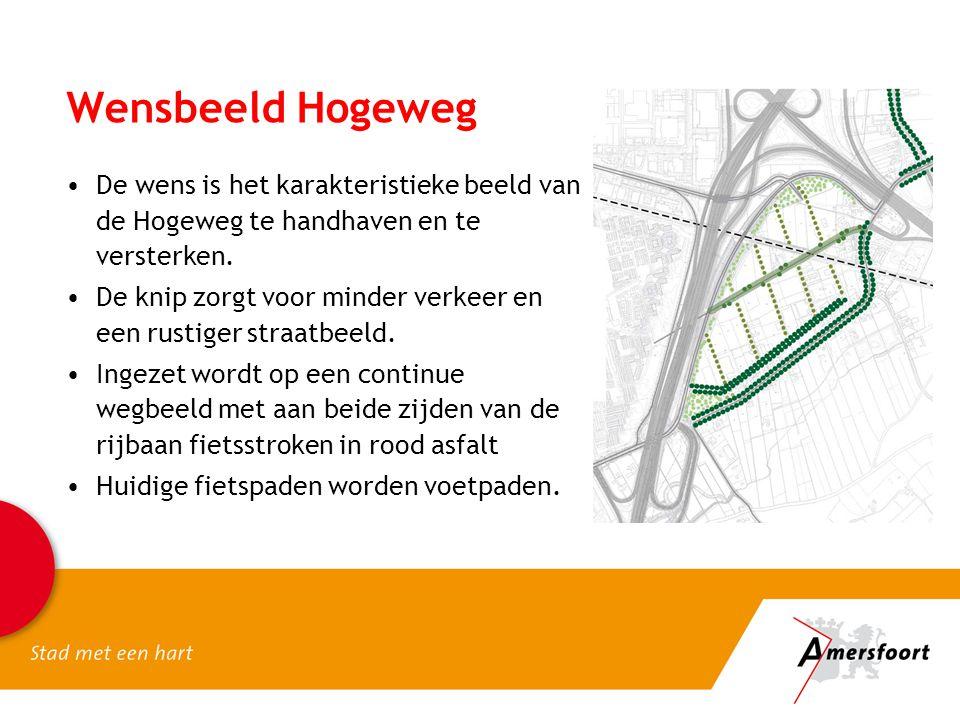 Wensbeeld Hogeweg De wens is het karakteristieke beeld van de Hogeweg te handhaven en te versterken.