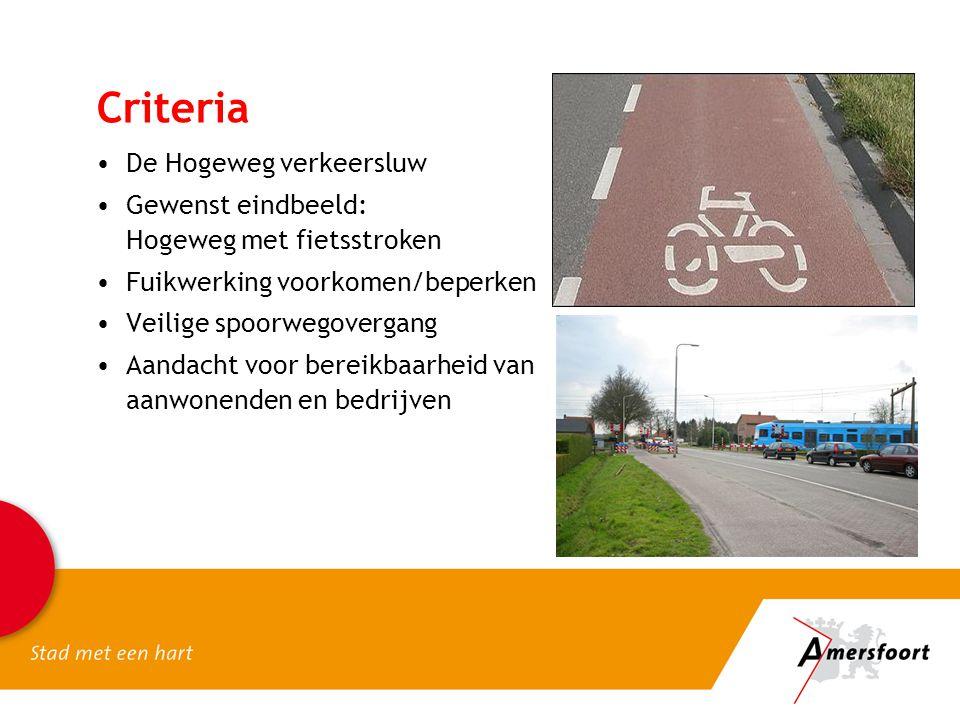 Criteria De Hogeweg verkeersluw