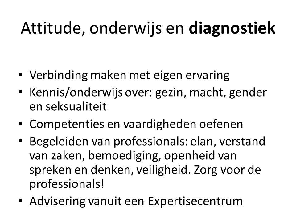 Attitude, onderwijs en diagnostiek