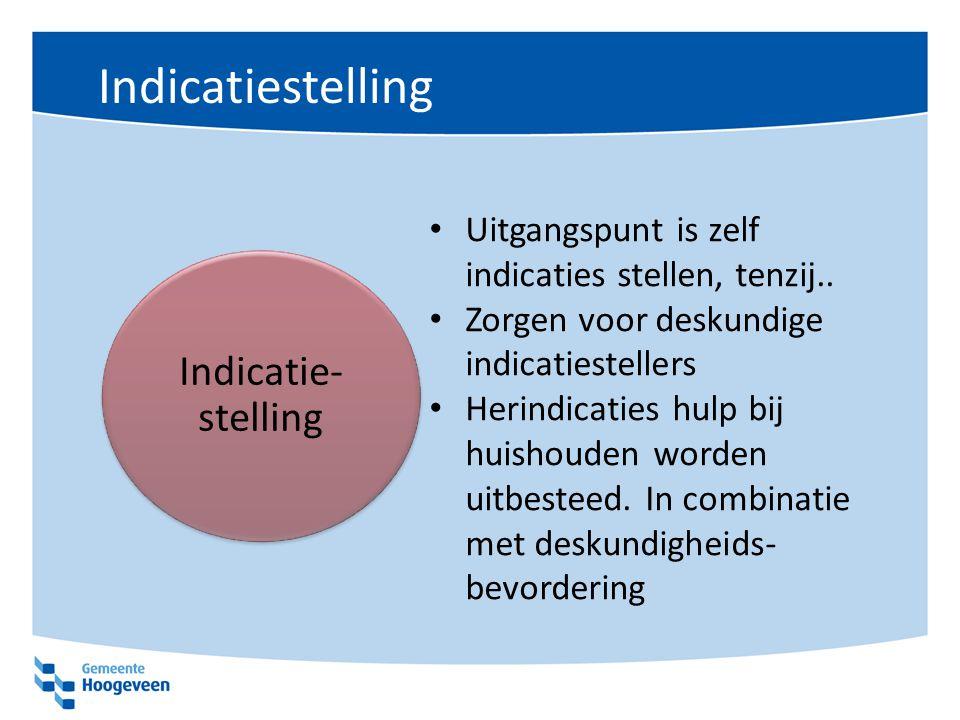 Indicatiestelling Indicatie-stelling
